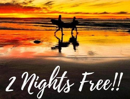 2 Nights Free! Stay 7 nights and only Pay for 5 nights!